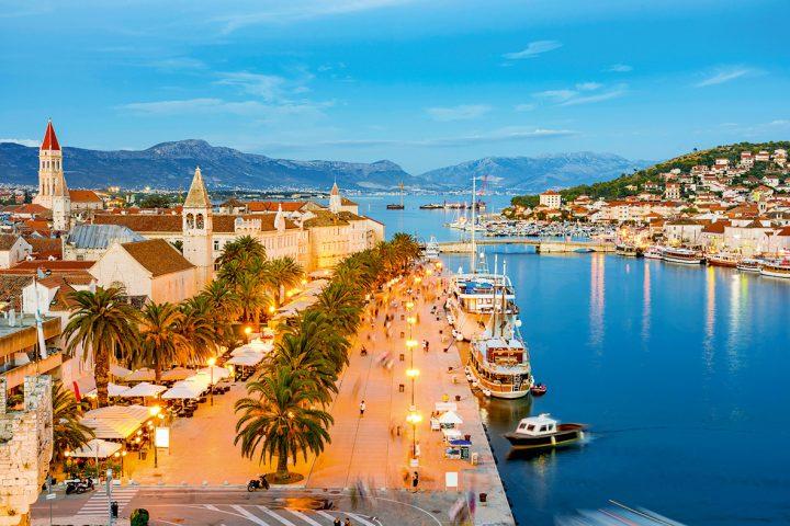 Sonnenuntergang in Trogir, Kroatien