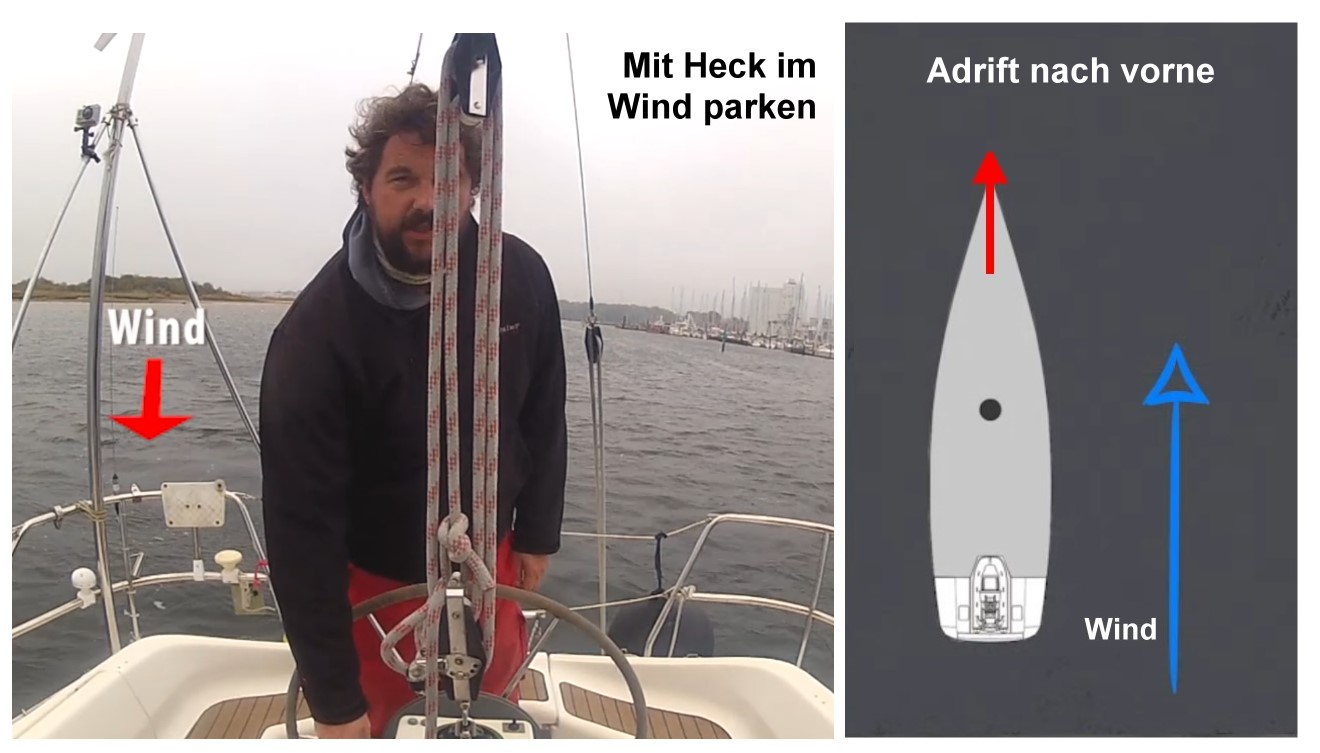 Hafenmanöver HECK IM WIND