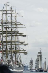 """Die """"Kruzenshtern"""" aus Russland gehört mit 114,5 Meter zu den größten Besuchern der Hanse Sail, (c) Hanse Sail Rostock / Lutz Zimmermann"""
