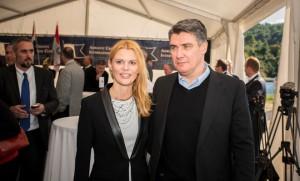 ACI Direktorin Doris Peručić und Regierungspräsident Zoran Milanović geben den Startschuss zum Bau der 22. ACI Marina.