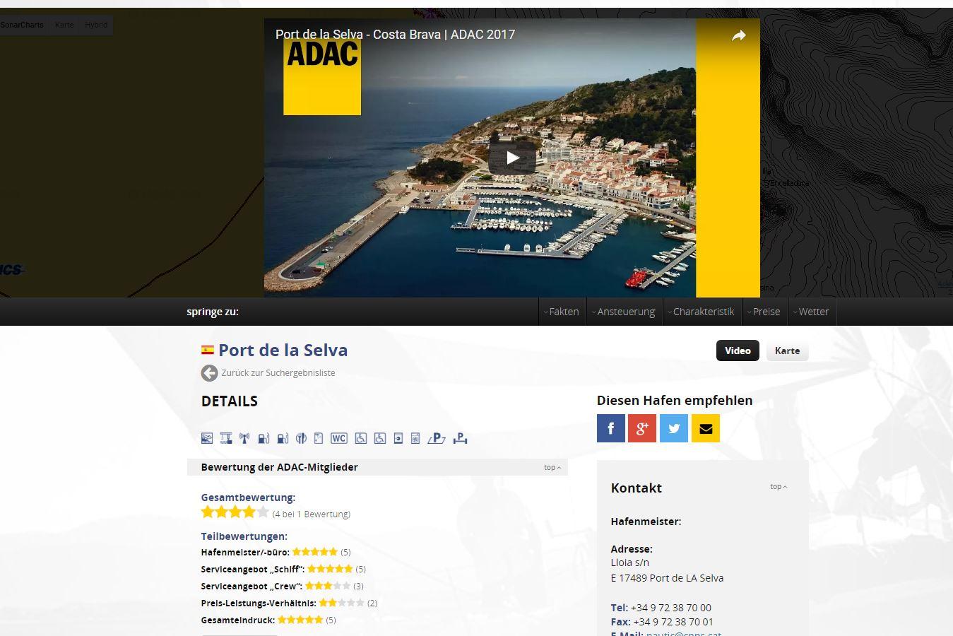 ADAC Mitglieder können Häfen bewerten.