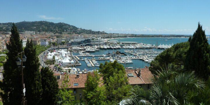 Luftbild Cannes Hafen
