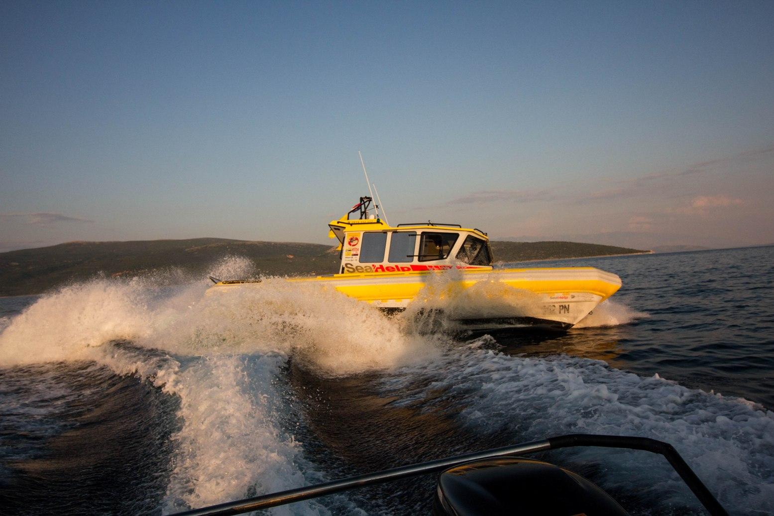 Die neuen SeaHelp-Einsatzboote konnten schon mal vor Punat ihre Performance unter Beweis stellen.