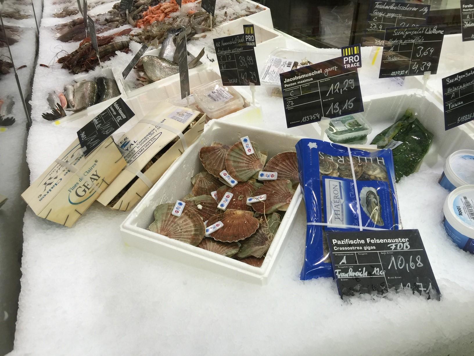 Austern und Miesmuscheln im deutschen Lebensmittelhandel laut Greenpeace-Studie mit Mikroplastik belastet.