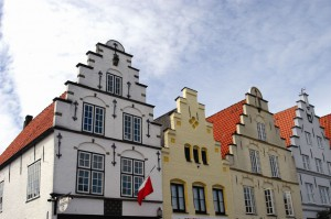 Treppengiebelhäuser in Friedrichstadt.