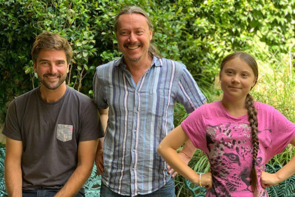 Greta und ihr Vater treffen Boris Herrmann Anders Hellberg