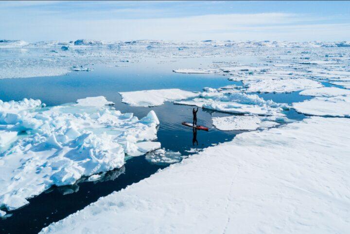 Michael Walther mit dem SUP in Grönland