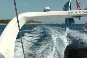 Mit dem Mietboot durch die Kornaten