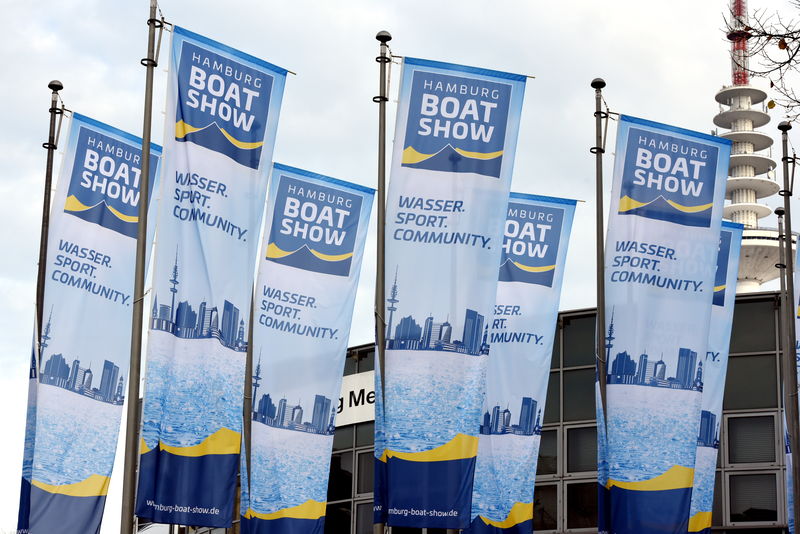 Hamburg Boatshow Flaggen
