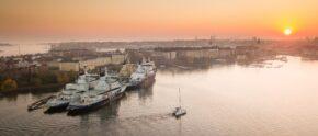 Segelyacht vor Helsinki