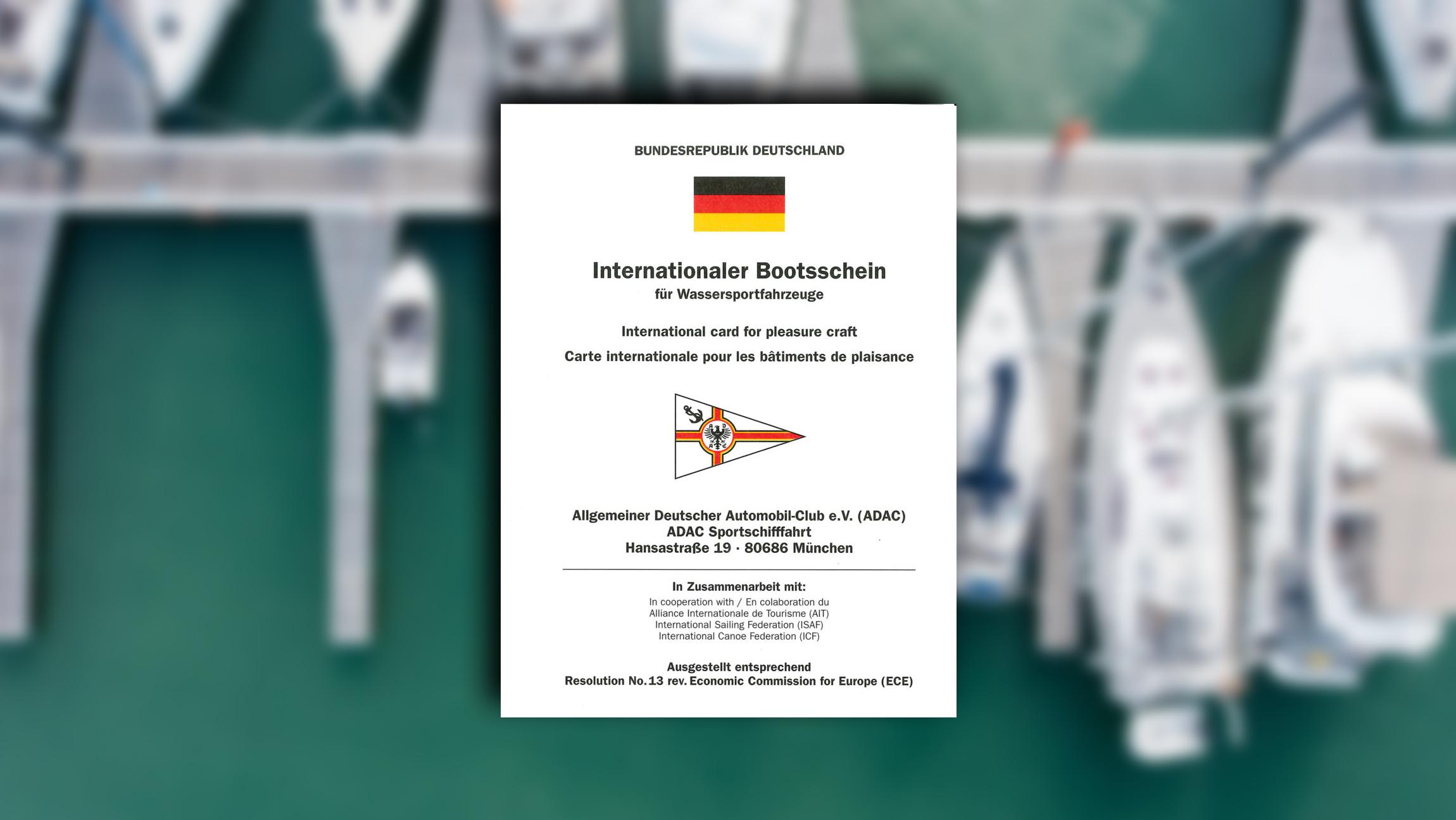 IBS Internationaler Bootsschein des ADAC