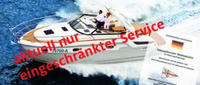 """Bootsregistrieurung mit Zusatz """"eingeschränkter Service"""""""
