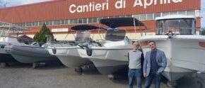 Eugenio & Nicola Toso, die Veranstalter der NAUTILIA vor ihren Büros.