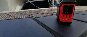 Solarpanel und Powerbank