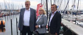 Kurt Heinen (Vizepräsident für Tourismus ADAC), Mona Küppers Präsidentin DSV, Winfried Röcker (Präsident DMYV)