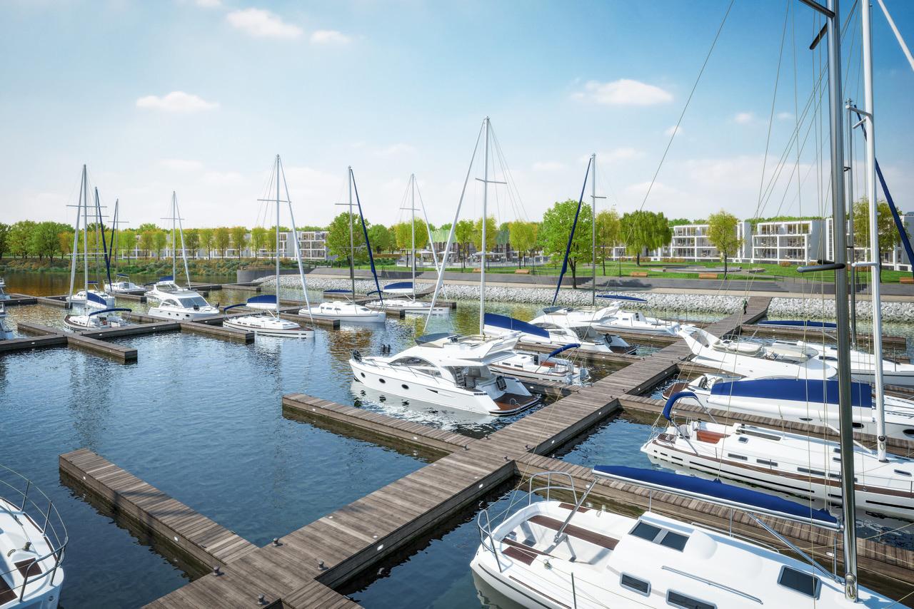 Grundsteinlegung des neuen Luxushafenprojektes mit 184 Wohneinheiten und 150 Liegeplätzen in Waren (Müritz)