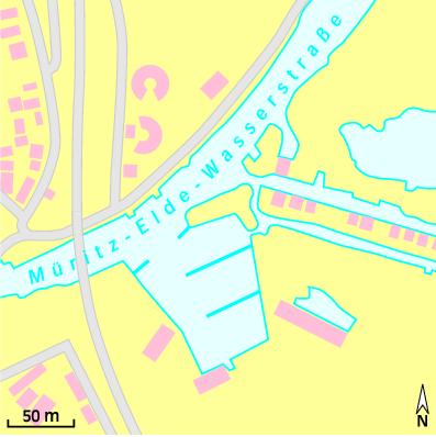 Lageplan: Wasserwanderrastplatz Plau