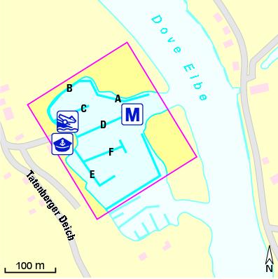 Lageplan: Hamburger Yacht-Club e.V. im ADAC
