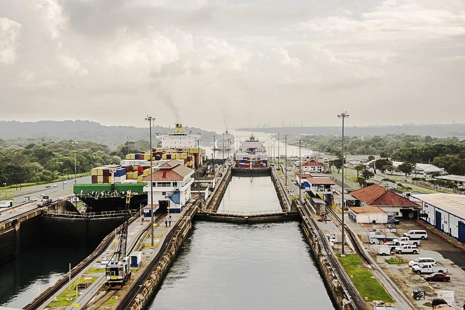 Schleuse im Panama Kanal