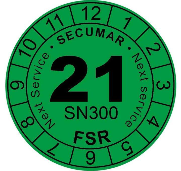 Plakette Rettungsweste Next Service FSR