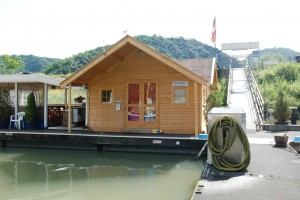Harbour master's office with disposal facilities, St. Goar