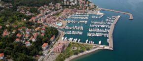 Porto San Rocco aus der Luft. © FVGMarinas.