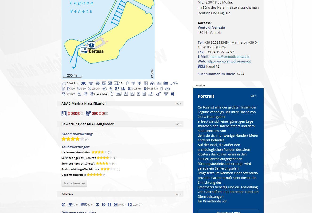 ADAC Marina-Portal erweitert seinen Service