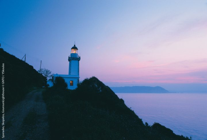 sporades skopelos gourouni lighthouse. Photo: yskoulas