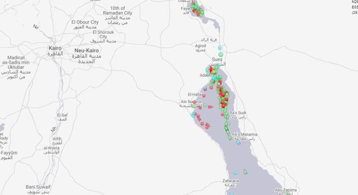 Suezkanal Stau