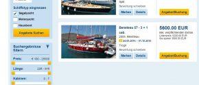 ADAC Yachtcharter: jetzt mit Schiffstypensuche