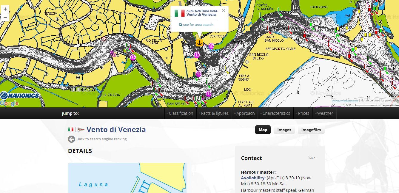 Venedig Seekarte