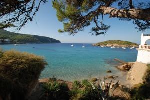 Blick über die Bucht vor Sant Elm