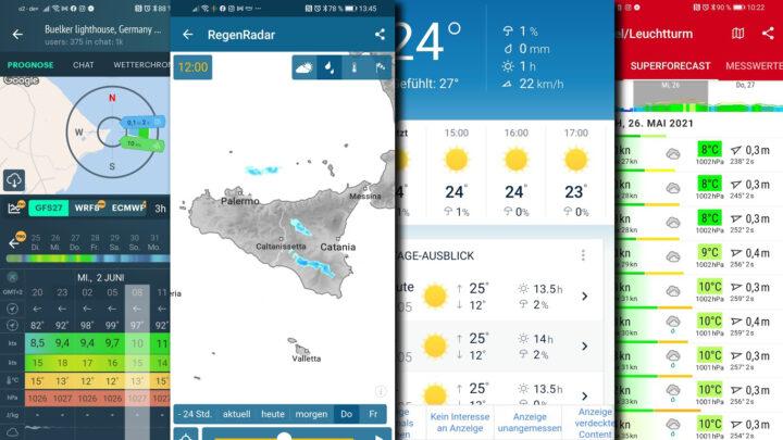 Wetterapps und Windapps