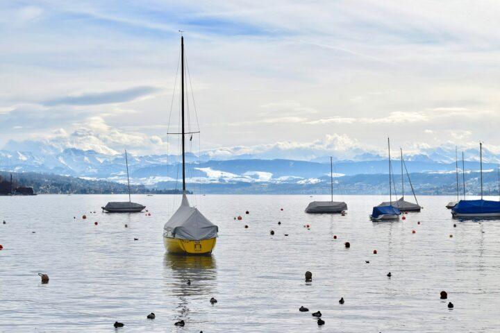 Im Winter auf dem Zürichsee